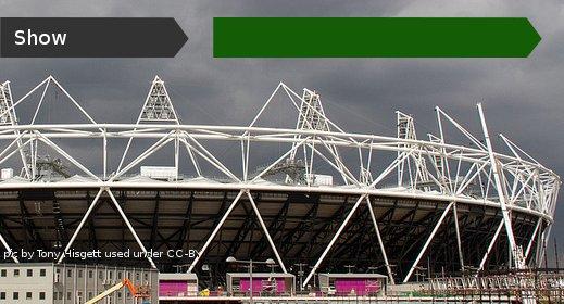 Shot of the Olympic stadium