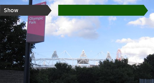 Olympic Stadium from Victoria Gate