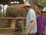 Ian Feeding a Baby Elephant